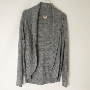 Mossimo Open Front Gray Cozy Cardigan Sweater